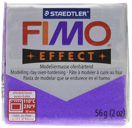 (Fimo Soft Clay 56gm Glitter Lilac)