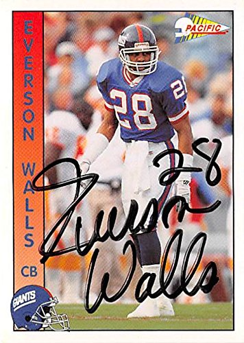 312e12803 Image Unavailable. Image not available for. Color: Everson Walls autographed  football card (New York Giants ...