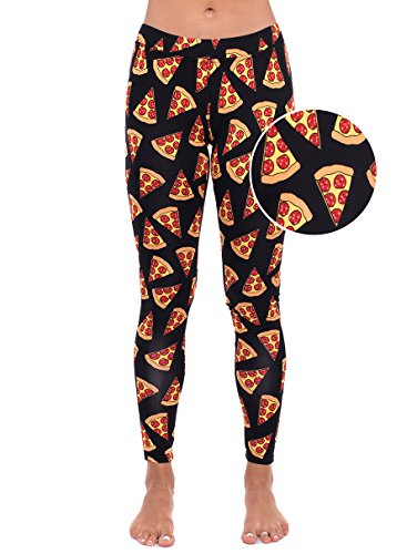 Pizza Leggings - Pizza Tights for Women: Small (Womens Pizza Costume)