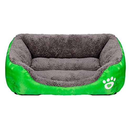 Price comparison product image Puppy Bed, Haoricu Pet Cat Cushion House Soft Warm Kennel Dog Mat Blanket (S,  Green)