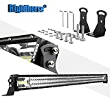 LED Light Bar Rigidhorse Triple Row 52Inch 450W LED Work Light Spot Flood Combo LED Lights LED Bar Driving Fog Lights Jeep Off Road Lights Boat Lighting