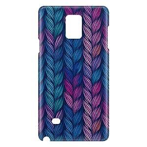 Loud Universe Samsung Galaxy Note 4 3D Wrap Around Braids Print Cover - Multi Color