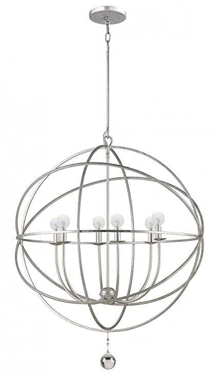 9228 os solaris 6lt pendant olde silver finish sphere chandelier 9228 os solaris 6lt pendant olde silver finish aloadofball Images