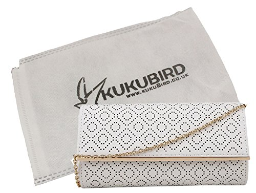 Hyuna Diamond white Cut à sac embrayage sac avec main Kukubird poussière modèle Kukubird sac Laser à dqCqwt
