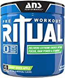 ANS Performance Ritual Pre-Workout, Delivers Extreme Energy with Intense Focus and Raw Power, Sugar-Free Candy Green Apple, 360 Gram