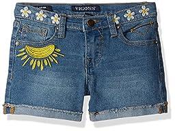 Vigoss Little Girls\' Ahead Short, Sunny Days Freezer Blue, 6x