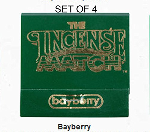 Bayberry Incense - Incense Matches: Set of 4 Scented Match Books, Bayberry