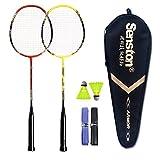 Senston - 2 Player Badminton Racket Set - Including 1 Badminton Bag/2 Rackets/2 Badminton/2 Grip