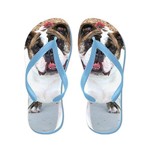 CafePress Bulldog - Flip Flops, Funny Thong Sandals, Beach Sandals Caribbean Blue