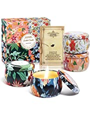 KWANITHINK Scented Candle for Home, Aromatherapy Candles Scented Set for Mother's Day, Bath, Stress Relief, Yoga, Birthday, Anniversary, Spa (4 x 4.4 oz)