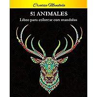 51 Animal Mandalas Para Colorear: Libro para colorear