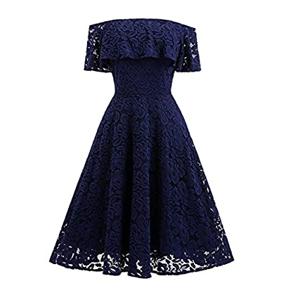Adodress Women's Lace Short Prom Dresses Short Sleeve off Shoulder Casual Swing Cocktail Homecoming Dresses