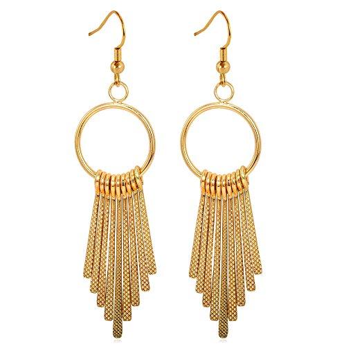 U7 Fashionable Platinum Plated Earrings