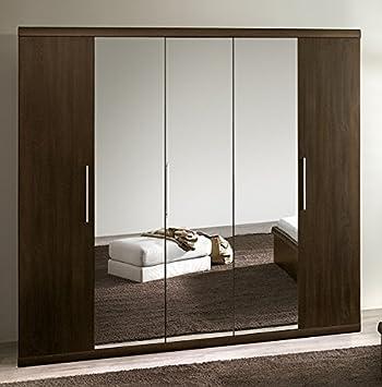 armario ropero armario puertas con espejo para saln de roble oscuro
