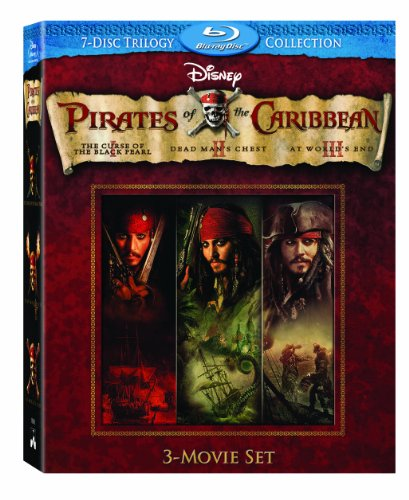 Pirates of the Caribbean Three-Movie Set (Curse of the Black Pearl / Dead Man's Chest / At World's End) [Blu-ray] by Walt Disney Studios Home Entertainment
