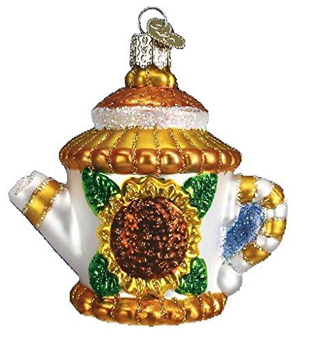 Old World Christmas Sunflower Teapot Glass Ornament