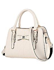 Cozy Age Womens Sweet Purse PU Leather Shoulder Bag Handbag ,One Size,White
