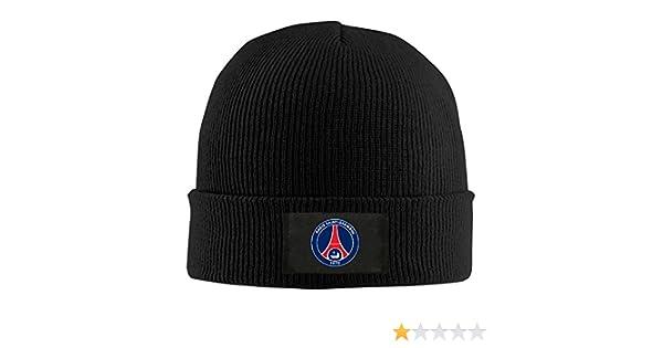 b2620915a7f Amazon.com  Gdlov Paris Saint-Germain PSG Men Women Unisex Winter Warm  Acrylic Watch Knit Woolen Beanie Cap Hat Size One Size US Black  Clothing