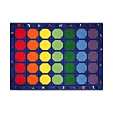 Sprogs Kids Alphabet Seating Rug - Rectangle, 7' 6'' W x 12' L, SPG-FE601-44A-SO