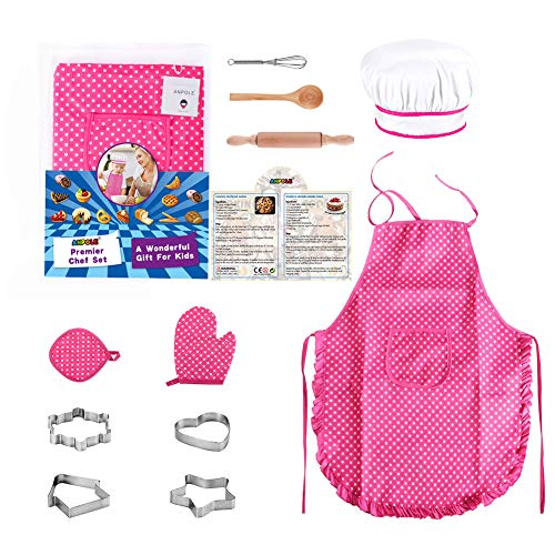 11Pcs Chef Set for Kids, Kitchen Cooking and