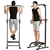(US STOCK)Keland Multi-Function Power Tower Exercise Equipment, Pullup and Dip Station Exercise Tower Workout Exerciser Home Gym Equipment