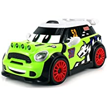 Stunt Fighter Mini Cooper Remote Control RC Car Ready to Run RTR w/ Bright Headlights, Turning & 360 Degree Spinning Action (Colors May Vary)