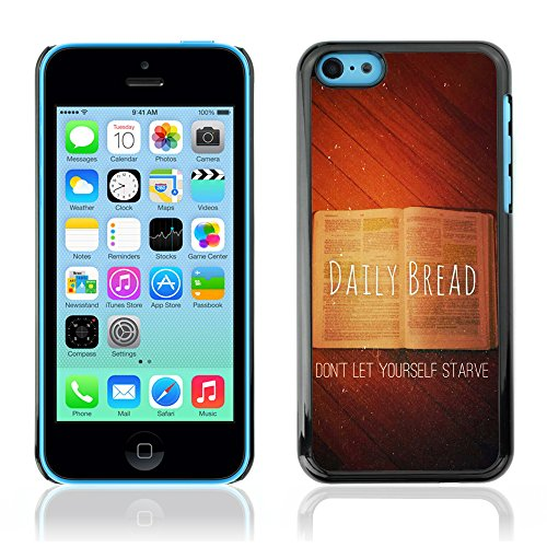 DREAMCASE Citation de Bible Coque de Protection Image Rigide Etui solide Housse T¨¦l¨¦phone Case Pour APPLE IPHONE 5C - DAILY BREAD