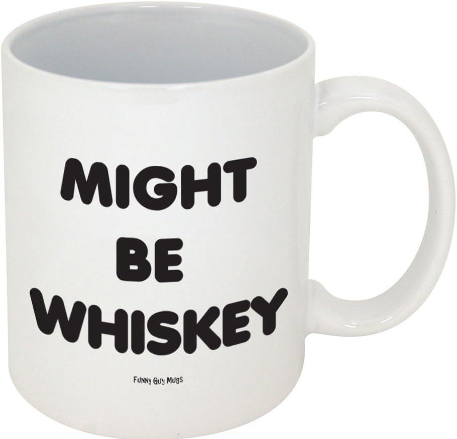 Funny Guy Mugs Might Be Whiskey Ceramic Coffee Mug, White, 11-Ounce