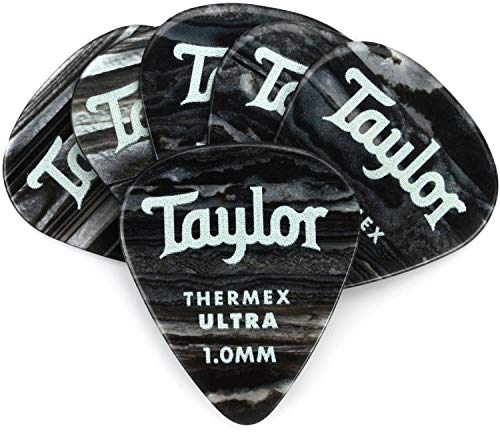 - Taylor Premium Darktone 351 Thermex Ultra Guitar Picks 6-pack - Black Onyx 1.00mm