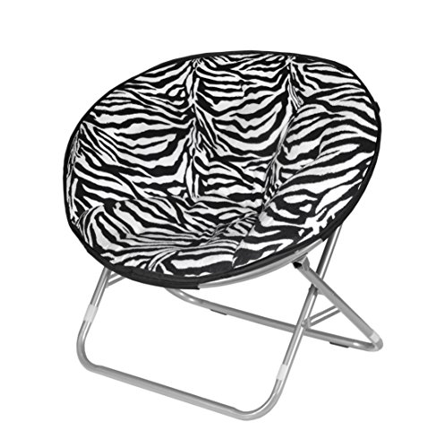 - Urban Shop Zebra Faux Fur Saucer Chair