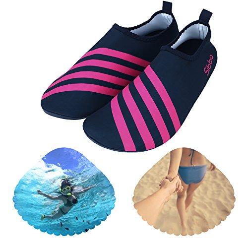 Sibba Unisex Pelle Dacqua A Piedi Nudi Aqua Scarpe Quick Dry Beach Swim Surf Yoga Scarpe Da Ginnastica Per Donna Uomo E Bambino Rosso