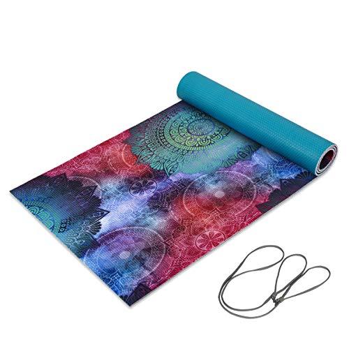 "Trideer Premium Printed Yoga Mat, 1/4"" Extra Thick Non-Slip"