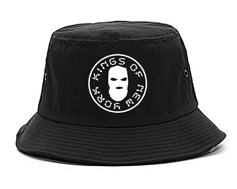 Amazon.com  Kings Of NY Ski Mask Large Logo New York Bucket Hat ... 8b37381fa4e