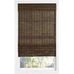 Lewis Hyman 0215486 Havana Bamboo Roman Shade, 23-Inch Wide by 72-Inch Long, Cocoa