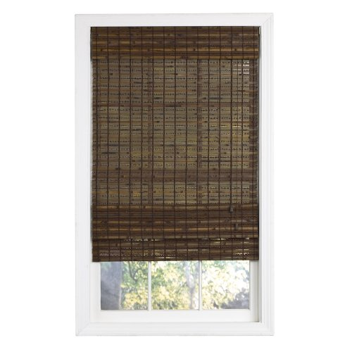 Lewis Hyman 0215502 Havana Bamboo Roman Shade, 52-Inch Wide by 64-Inch Long, Cocoa - Alternative Wood Blinds