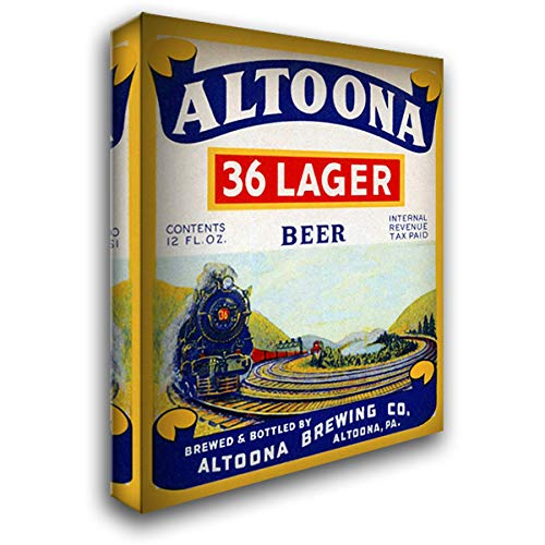 Altoona 36 Lager Beer 28x36 Gallery Wrapped Stretched Canvas Art by Vintage Booze - 36 Lager Altoona Beer