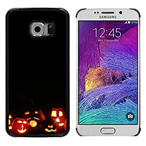 LECELL--Funda protectora / Cubierta / Piel For Samsung Galaxy S6 EDGE SM-G925 -- Halloween Autumn Fall Pumpkin --