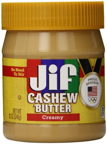 Almond Cashew Butter (Jif Cashew Butter, Creamy, 12 Ounce)