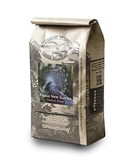 Camano Island Coffee Roasters - Organic Fresh Roasted Coffee - Papua New Guinea Medium Roast - Ground - 1 (Island Coffee Finish)
