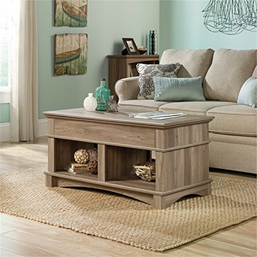 Pemberly Row Lift Top Coffee Table in Salt Oak by Pemberly Row