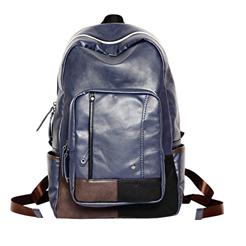 Casual Backpack Travel Blue Laidaye Men's Bag Shoulder vgqanw5E