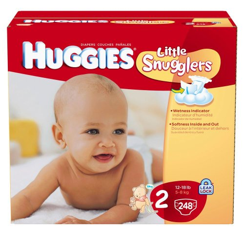 Huggies Little Snugglers Diapers, Ebulk, Size 2, 248 Count by HUGGIES