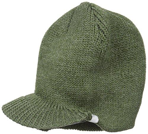 Coal Men's The Basic Rib Knit brimmed Beanie Hat, Heather Olive, One Size (Basic Brim Beanie)