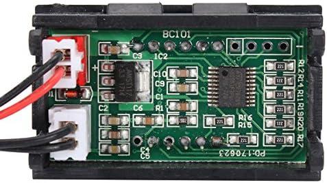 Queenwind 12V 赤いデジタル表示温度計は防水温度センサーのテストメートルを導いた