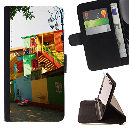 FJCases Buenos Aires Argentina Postcard View Slim Wallet Card Holder Flip Leather Case Cover for LG - Argentina Ray