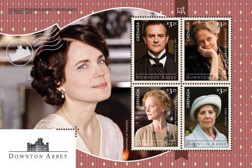 Downton Abbey - Lady Cora - BBC Drama - Beautiful Collectors Stamps - Grenada
