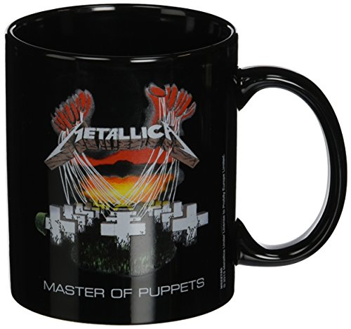 Black Metallica Master Of Puppets Ceramic Mug