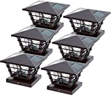 GreenLighting 5x5 Solar Post Cap Light 4x4 Base Adapter (Brown, 6 Pack)