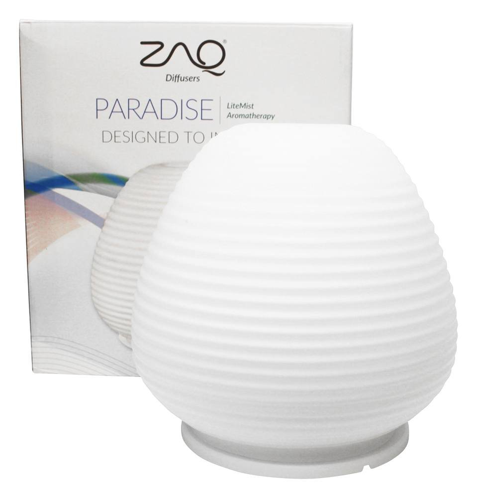 ZAQ Paradise Glass Litemist Aromatherapy Essential Oil Aroma Diffuser, for Living Room, Spas, Use any Essential oils (Lavender, Tea Tree, Eucalyptus, Peppermint & More)
