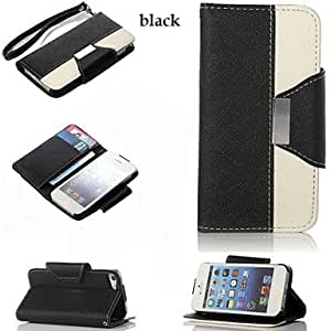 LZX PU Leather Full Body Case with Card Slot and Wallet and Stand for iPhone 5/5(Assorted Colors)